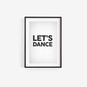 Laura Mellor Illustration - Let's Dance Print - David Bowie Lyrics