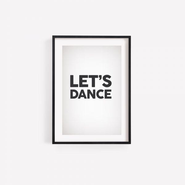 Laura Mellor Illustration - Let's Dance Print - David Bowie Lyrics